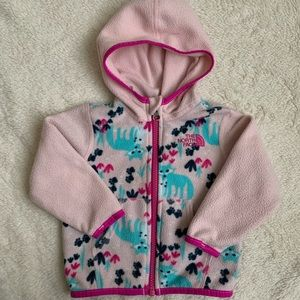 North Face Hooded Fleece 6-12 months